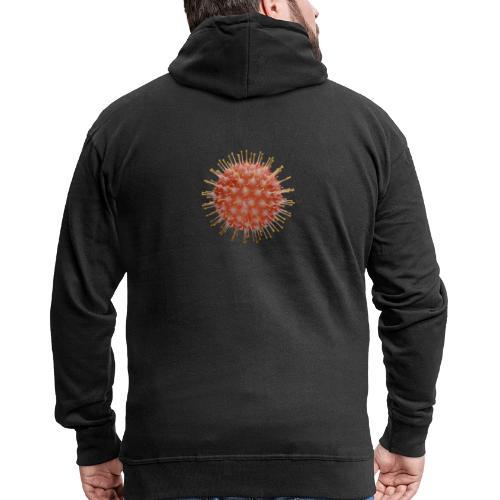 Corona Virus Abwehr T-Shirt - Männer Premium Kapuzenjacke
