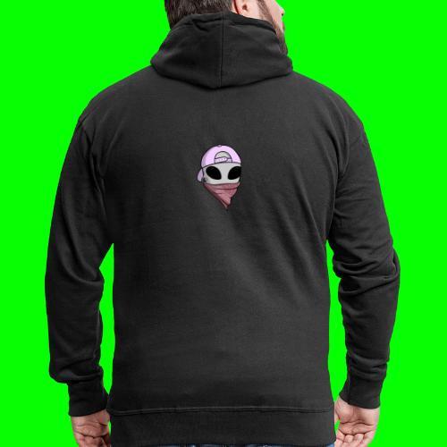 gangsta alien logo - Felpa con zip Premium da uomo