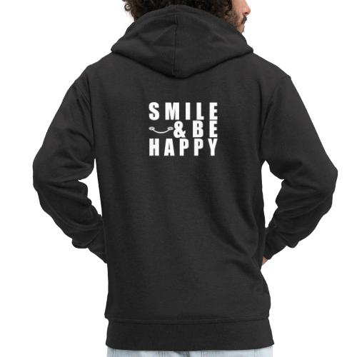 SMILE AND BE HAPPY - Men's Premium Hooded Jacket
