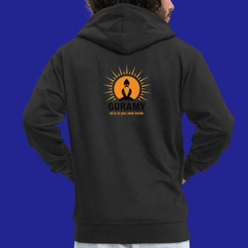 final nero con scritta - Men's Premium Hooded Jacket