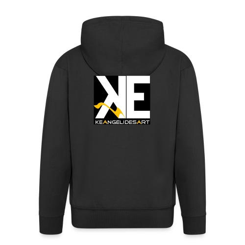 Keangelidesart Yellow Wave - Men's Premium Hooded Jacket