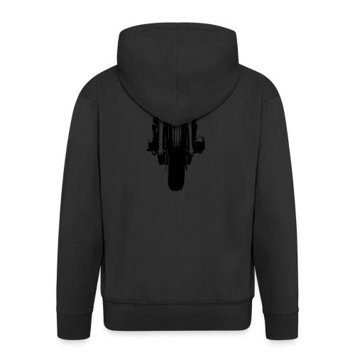 Motorcycle Front - Men's Premium Hooded Jacket