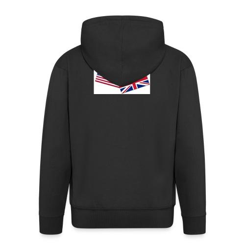 Englisch_Deutsch_Unterhaltung_Prod - Männer Premium Kapuzenjacke