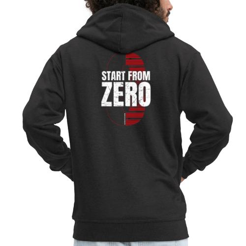 Start from ZERO - Men's Premium Hooded Jacket