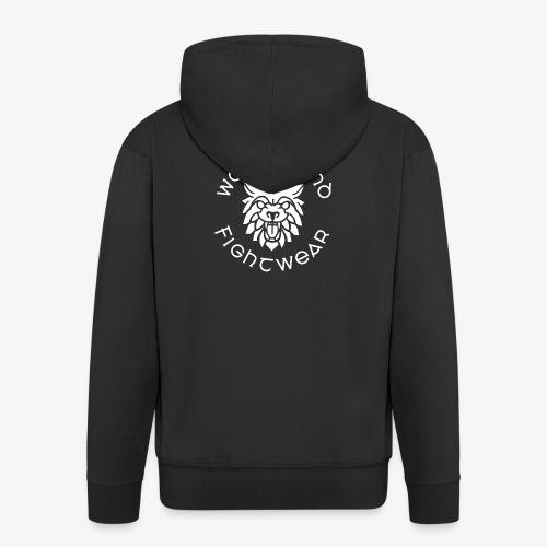 logo round w - Men's Premium Hooded Jacket