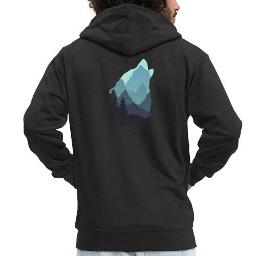Wolf - Men's Premium Hooded Jacket
