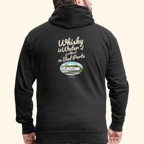 Whisky T-Shirt Whisky Is Water Destillerie - Männer Premium Kapuzenjacke
