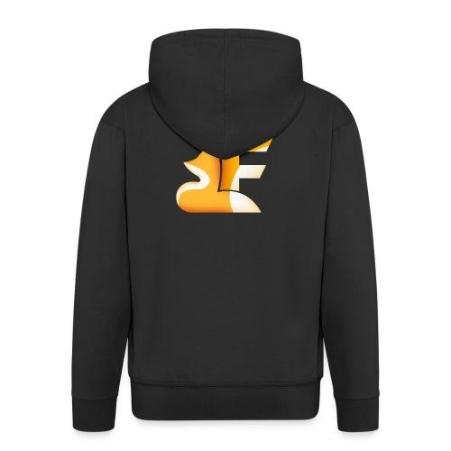 Logo senza sfondo FRONTE - Felpa con zip Premium da uomo