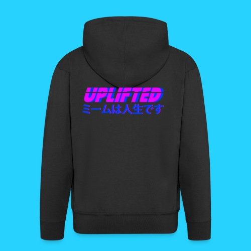 Uplifted with japanese lettering - Men's Premium Hooded Jacket