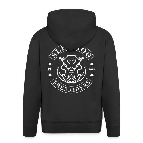 Sledhog-logo_2 - Miesten premium vetoketjullinen huppari