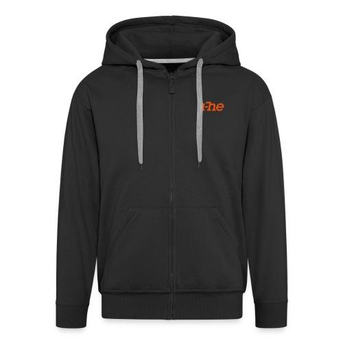 uhe logo solo - Men's Premium Hooded Jacket