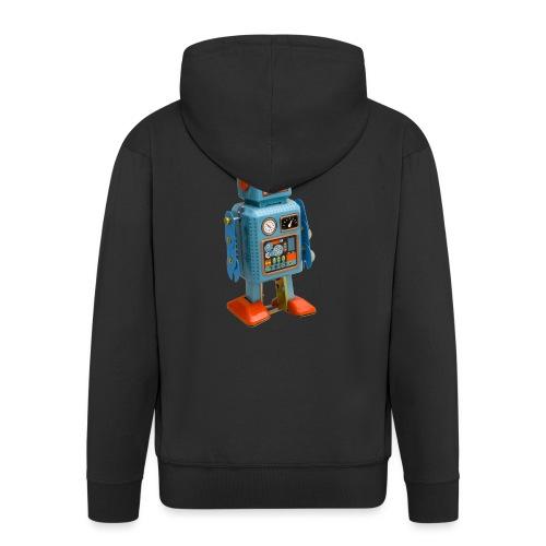 T-Shirt ROBOT - Felpa con zip Premium da uomo