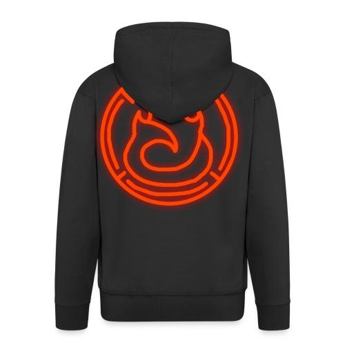 Fire Magic Circle - Men's Premium Hooded Jacket