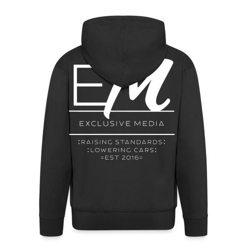 Raising standards lowering cars - Zip up hoodie - Men's Premium Hooded Jacket