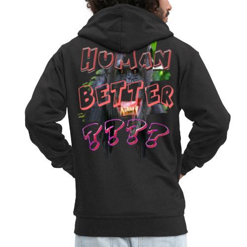 H-Tag Human Better ???? - Veste à capuche Premium Homme