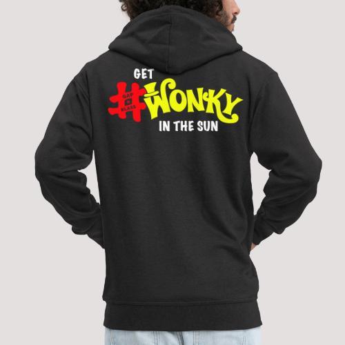 Wonky in the sun - Men's Premium Hooded Jacket