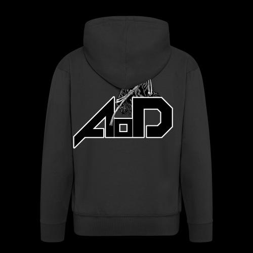 AoD Reaper Logo for cloth - Men's Premium Hooded Jacket