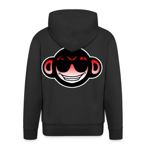 Get scimmia Angry - Felpa con zip Premium da uomo