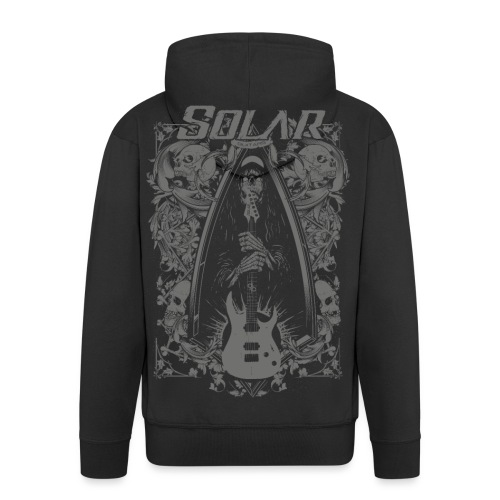 Solar Guitars Metal Ashape Gray - Men's Premium Hooded Jacket