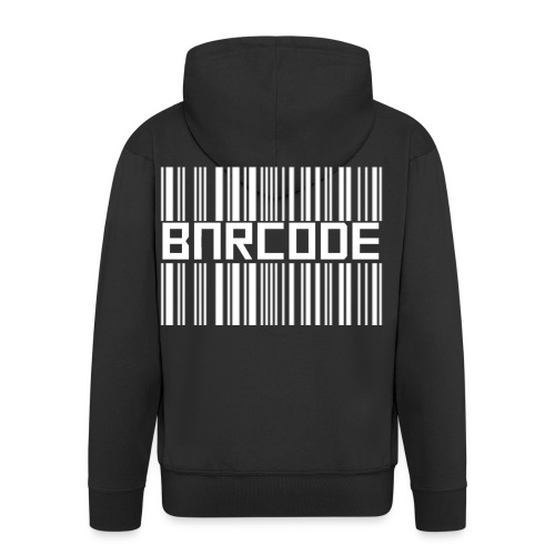 BARCODE BLACK - Men's Premium Hooded Jacket
