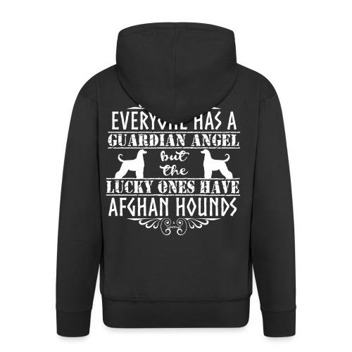 Afghan Hound Angels 2 - Men's Premium Hooded Jacket