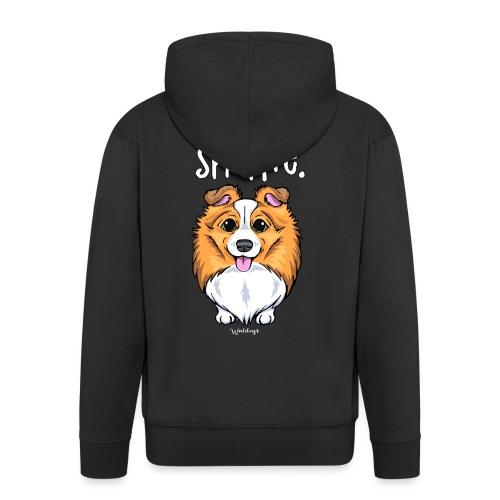 Sheltie Dog Cute 5 - Men's Premium Hooded Jacket