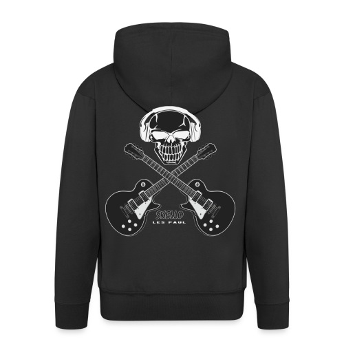 Skello Guitar - Men's Premium Hooded Jacket
