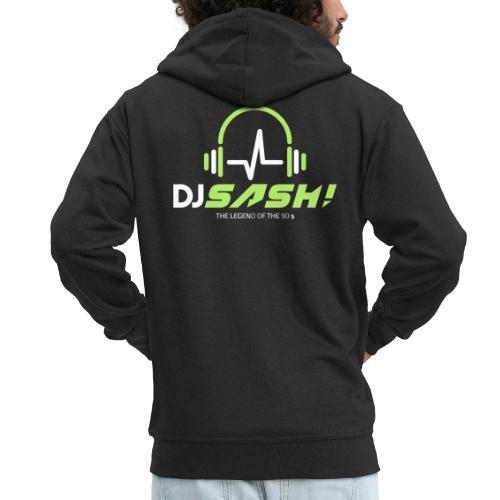 DJ SASH! - Headfone Beep - Men's Premium Hooded Jacket