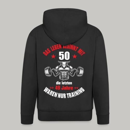 50 Geburtstag Geschenk lustig Nur Training Stier - Männer Premium Kapuzenjacke
