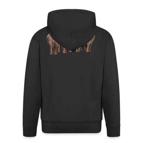 elephant 1049840 - Felpa con zip Premium da uomo
