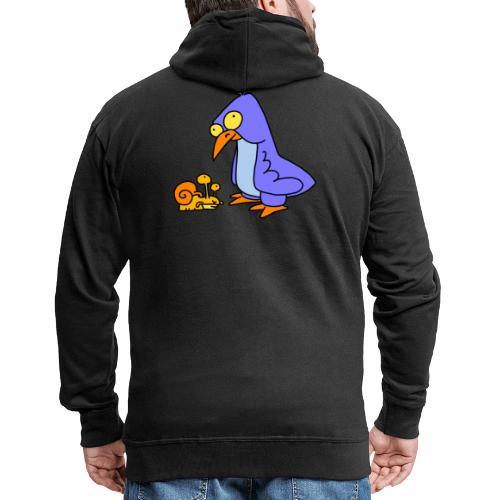 Schnecke und Vogel Nr 2 von dodocomics - Männer Premium Kapuzenjacke