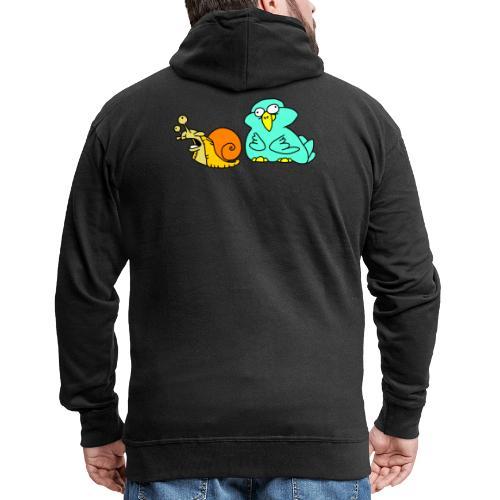 Schnecke und Vogel Nr 3 von dodocomics - Männer Premium Kapuzenjacke