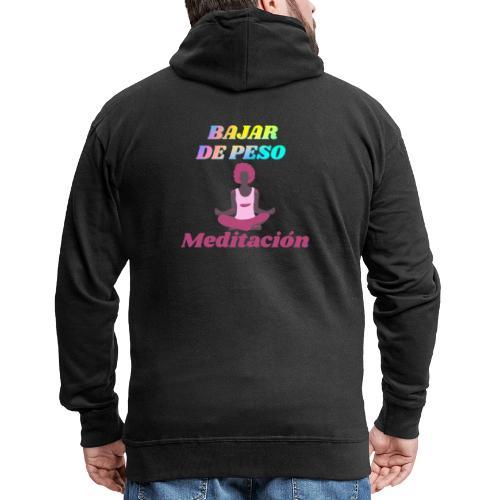 Yoga y meditación - Chaqueta con capucha premium hombre