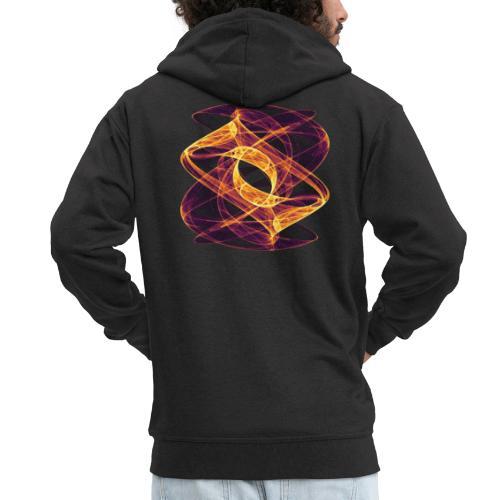 Eye in Inferno 7247i - Men's Premium Hooded Jacket