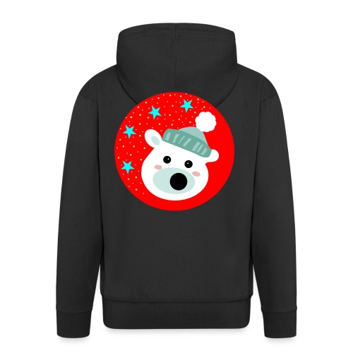 Winter bear - Men's Premium Hooded Jacket