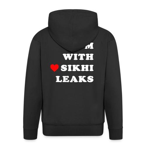 S-L-_I love SikhiLeaks - Men's Premium Hooded Jacket