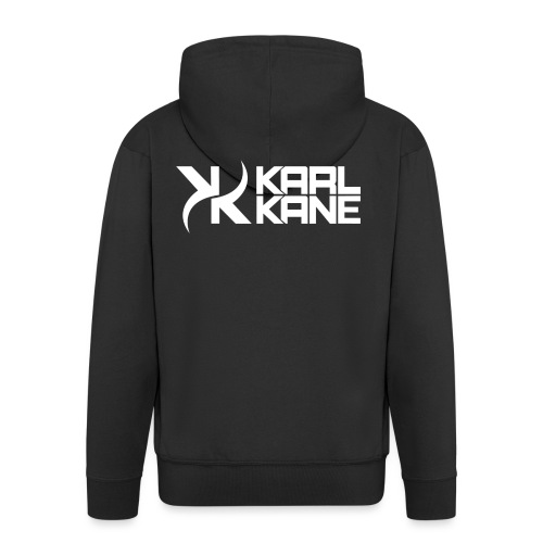 KARL KANE KK Logo Weiss - Männer Premium Kapuzenjacke