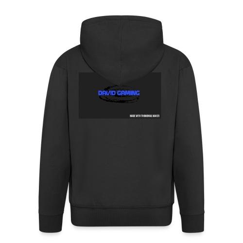 Schwarzes logo4 - Männer Premium Kapuzenjacke