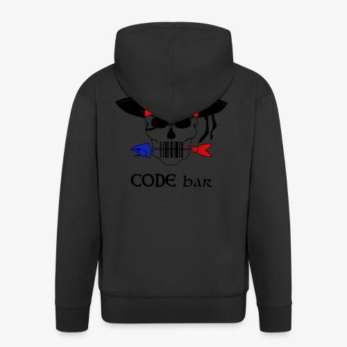 Code Bar couleur - Veste à capuche Premium Homme