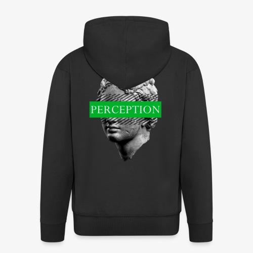 TETE GRECQ GREEN - PERCEPTION CLOTHING - Veste à capuche Premium Homme