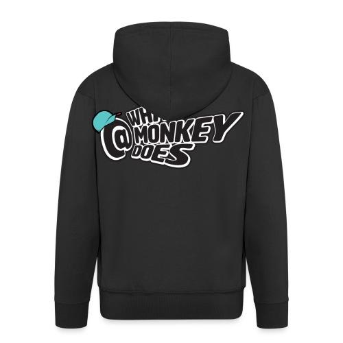 What Monkey Does Instagram Logo - Men's Premium Hooded Jacket