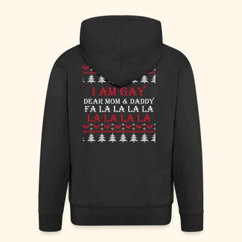 Gay Christmas sweater - Rozpinana bluza męska z kapturem Premium