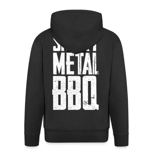 smoky metal bbq logo - Men's Premium Hooded Jacket