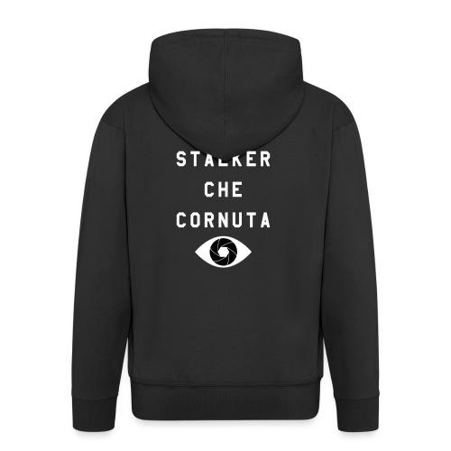 meglio stalker che cornuta - Felpa con zip Premium da uomo