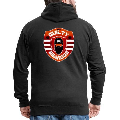 HC Guilty Beardos - Miesten premium vetoketjullinen huppari