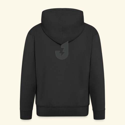 Large J Logo Print - Men's Premium Hooded Jacket