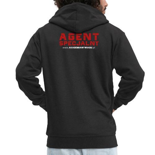 Agent Specjalny Akademia Wywiadu™ - Rozpinana bluza męska z kapturem Premium
