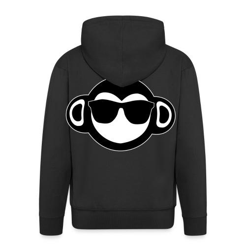 Get scimmia - Felpa con zip Premium da uomo