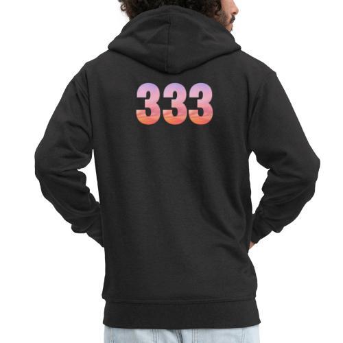 333 vous étes entouré de maitres ascensionnés - Veste à capuche Premium Homme