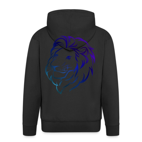 Leeuw Blauw - Mannenjack Premium met capuchon